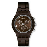 Reloj Swatch Full-blooded Smoky Brown Chrono Hombres # Svcc4