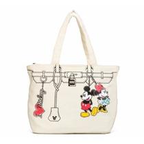 Bolso Tote Minnie & Mickey Mouse Con Licencia Disney 81630