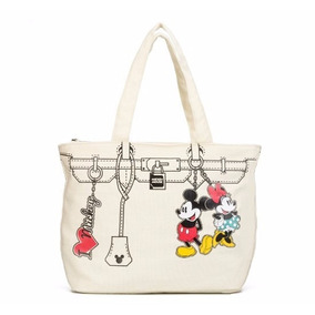 Bolso Tote Minnie & Mickey Mouse Con Licencia Disney 81630
