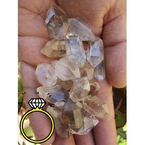 2x1 Diamante Herkimer Cuarzo Sanación Reiki Amuleto Talisman
