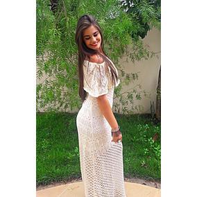 Vestido Longo Tricot Elegance Verão 2017