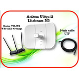 Kit San Luis 3.0 Ubiquiti Litebeam M5+ Router Wr841hp+ Cable