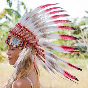 Novum Artesanía Tocado De Plumas | Indio Nativo Americano In