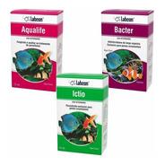Labcon Kit Medicamento P/ Aquário Ictio Aqualife Bacter