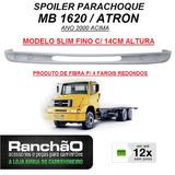 Spoiler Parachoque Caminhão Mb 1620 / Atron Fibra Fino 14cm