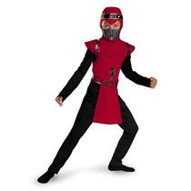 Disfraz Para Niño Traje Clásico Ninja Víbora Roja