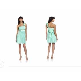 Vestido Nuevo Casual, Impotado, Color Verde, Corto, Talla M