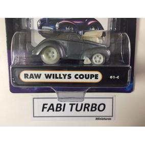 Muscle Machines Raw 41 Willys Coupe Chase Zamac 1776 Pcs Rar