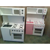 Juego De Cocina De Madera Para Chicos - Cocineta Integrada