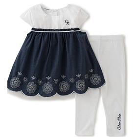 Conjunto 2 Piezas Niña Bebé Calvin Klein Nuevo 6-9 Meses