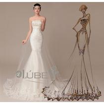 Vestido De Noiva Sereia Cauda Longa Tomara Que Caia