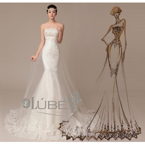 Vestido De Noiva Sereia Cauda Longa