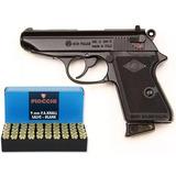 Pistola De Fogueo 9mm Bruni New Police Replica + 50 Balas