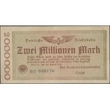 Alemania Railroads Post Wwi 2000000 Mark 20 Ago 1923 Ps1012b