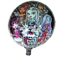 Vareta 50cm + Balão Metalizado Filme Monster High 45cm
