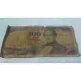 Billete Antiguo De 100 Pesos Oro Del 1 De Enero De 1980