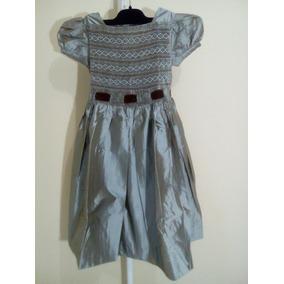 Vestido Infantil 100% Seda Bonpoit (itália) Importado.