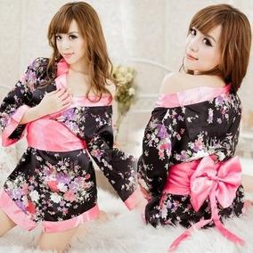 Sakura Moda Asiatica Vestido Mini Sexy Kimono Baby Doll Flor