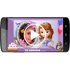 Invitación Infantil Digital En Video - Niña
