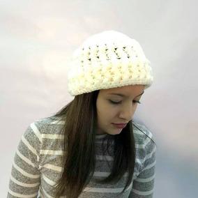 Gorros Tejidos Crochet Para Mujer - Ropa y Accesorios Piel en ... 91672604ff4
