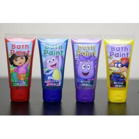 Tintas De Banho Da Dora, Princesas (kit Com 4 Cores)