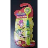 Escova Dental Infantil Padrinhos Magicos Com Capa 1 Unid