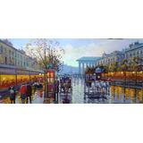 Quadro Paris (óleo Sobre Tela Espatulada)
