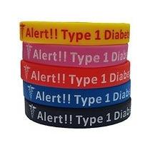 Alerta Médica Diabetes 1 O 2 A Elegir, Varios Colores