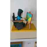 Escultura Criança Cadeirante Pintor Naif De Josenilda.