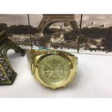 Promoção E10075 Relógio Michael Kors Mk8077 Dourado Grande !