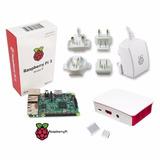 Raspberry Pi 3 + Case + Disip. + Fuente 5.1v 2.5a - Oficial