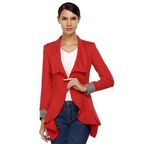 Blazer rojo mujer patronato