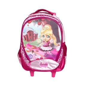 Mochila De Rodinhas Candy Land Rosa Ref.clm1400400 - Mcquee