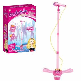 Microfone Infantil Com Luz E Som Brinquedo Menina