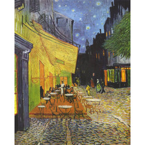 La Terraza Del Café Canvas Bastidor 150x100 Cm Exelente