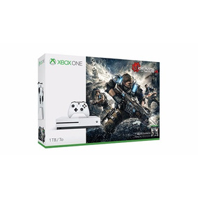Xbox One S Slim 1 Tb Gears Of War 4 C\ 2 Controles Mod. Novo