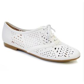 Sapato Casual Oxford Feminino Beira Rio Conforto Branco