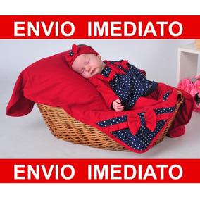 Kit Saída De Maternidade Helena - Vermelho Menina