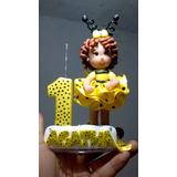Menina Abelhinha Topo De Bolo Biscuit Infantil, Aniversario