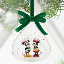 Mickey Y Minnie Ornamento Esfera De Cristal Disney Store