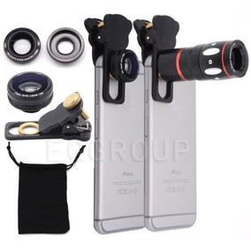 10 X Zoom Telefoto Pescado Ojo + Todo El Ángulo + Micro Clip