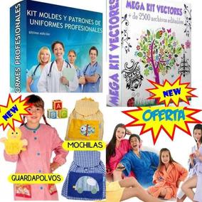 Promo 4 X 1, Moldes Uniformes + Guardapolvos + Batas Pijamas