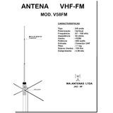Antena Vhf Fm Comunitária 5/8 Onda - Transmissor