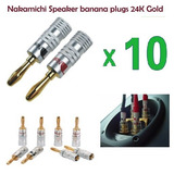 Pack 10 Conectores Nakamichi Banana Audio