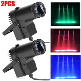 2pcs 30w Rgbw 6ch Led Etapa Iluminación Pin Spot Beam Dj...