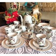 Jogo Para Chá 34 Peças De Porcelana, Natal