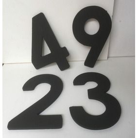 Números De Hierro 10 Mm Alto 21,5 Cms Ancho 14 Cms
