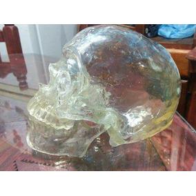 Cráneo Cristal Humano Con Mandíbula Articulada.