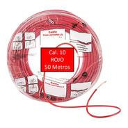 Bolsa 50 Mts Cable Iusa Rojo Thw Cal 10 Awg 100%cobre