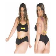 Conjunto Moda Adulta Plus Size Batgirl Heróis Carnaval Promo
